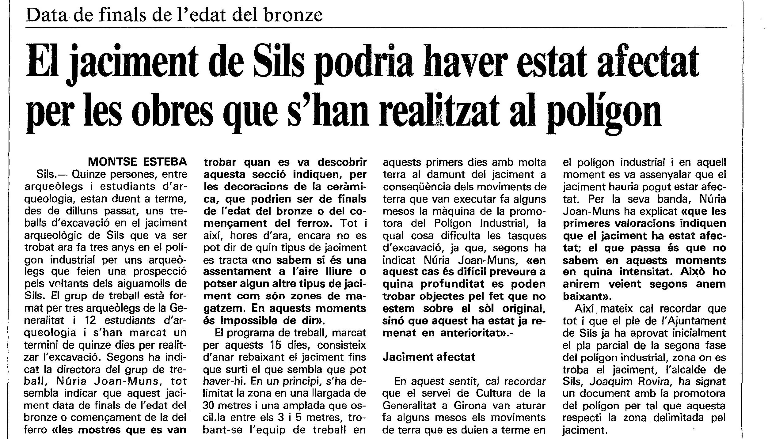 Diari de Girona, 5 juliol 1989